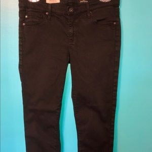 Anthro AG Stevie cuff black slim jeans size 27